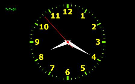 محافظ صفحه ساعت